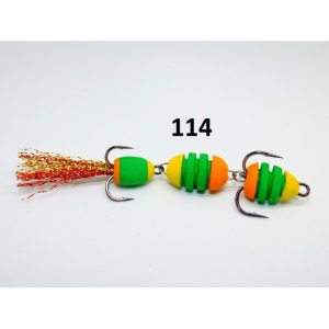 Mandula cu striatii model 114 3 segmenti 3 culori portocaliu/verde/galben