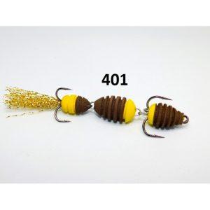 Mandula cu striatii model 401 3 segmenti 2 culori maro/galben